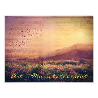 Kunst-… Musik zur Inspirational Kunst des Souls Photodruck
