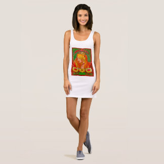 Kunst Nouveau Aquarell Ärmelloses Kleid