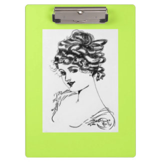 Kunst Nouveau Art-Porträt-Damenbirne 1917 Klemmbrett