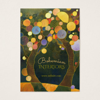 Kunst Nouveau Baum-Innenarchitektur Jumbo-Visitenkarten