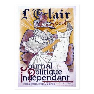 Kunst Nouveau französische politische Zeitschrift Postkarte