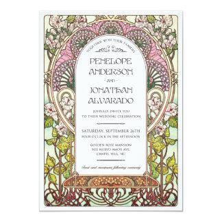 Kunst Nouveau Hochzeits-Probe 12,7 X 17,8 Cm Einladungskarte