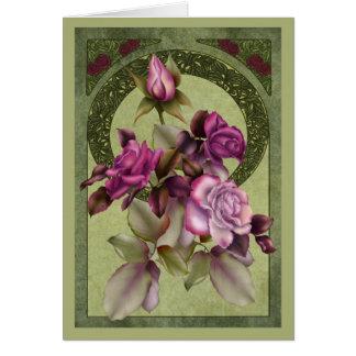 Kunst Nouveau Rosen Karte