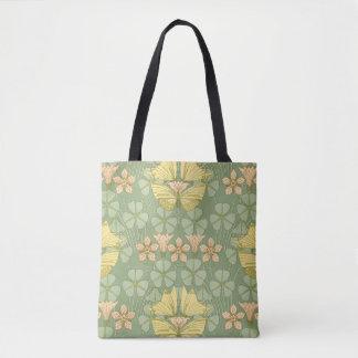 Kunst Nouveau Schmetterling und Blume Tasche