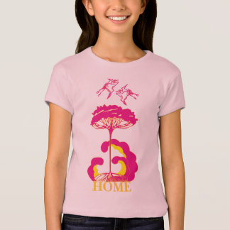 Kunst Nouveau Storch-Nest-Gewohnheits-Shirt T-Shirt