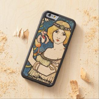 Kunst Nouveau Vintage Schönheits-hölzerner Bumper iPhone 6 Hülle Ahorn