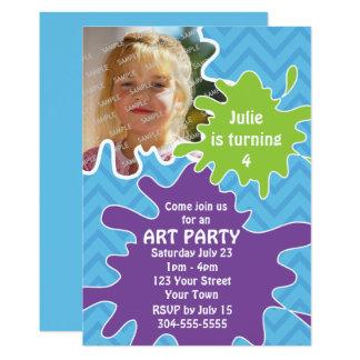 Kunst-Party Karte
