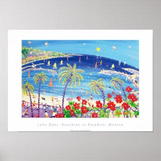 Kunst-Plakat: Sonnenschein im Paradies, Menton Poster
