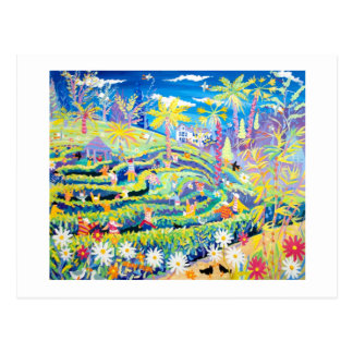 Kunst-Postkarte: Das Labyrinth an Glendurgan Postkarte