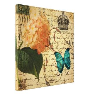 Kunst-Schmetterling Hydrangea der Krone Leinwanddruck