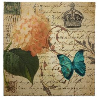 Kunst-Schmetterling Hydrangea der Krone Stoffserviette