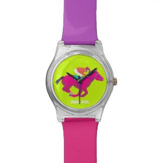 Kunst-Uhr: Rennpferd Armbanduhr