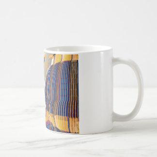 Künste-abstrakte blaue Grafiken Kaffeetasse