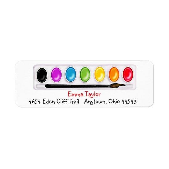 Kunstfarbe ing Rücksendeadressen-Aufkleber Rücksende Aufkleber