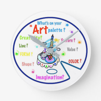 Kunstlehrer-Kunst-Paletten-Uhr Runde Wanduhr
