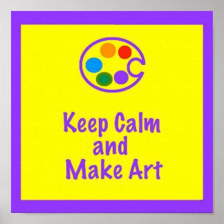 Kunstlehrer-Plakat/Zeichen - behalten Sie Ruhe und Poster