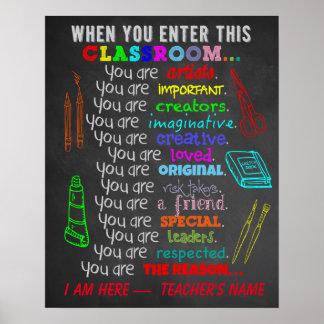 Kunstlehrer - wenn Sie dieses Klassenzimmer-Regeln Poster