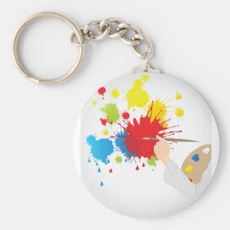 Künstler, der Keychain malt Schlüsselanhänger