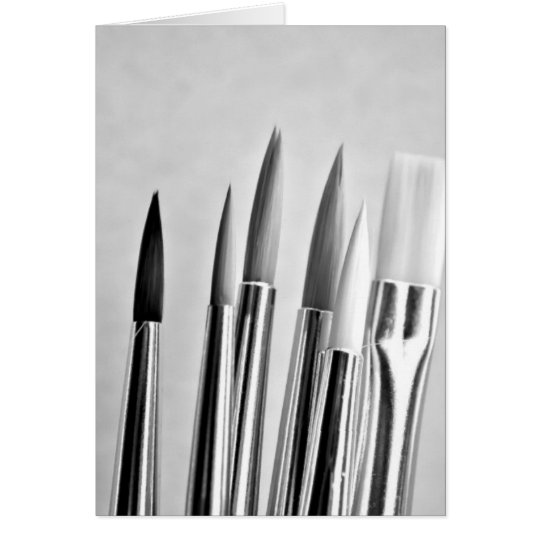 Künstler-Pinsel Grußkarte