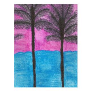 Künstler-Postkarten-Aquarell-Palmen Postkarte