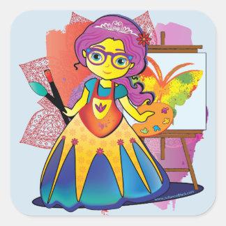 Künstler-Prinzessin Stickers