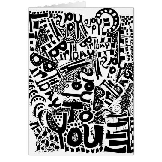 Künstlerische alles Gute zum Geburtstagkarte Karte