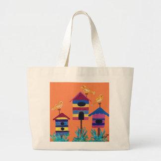 Künstlerische Birdhouseentwurfs-Tasche Jumbo Stoffbeutel