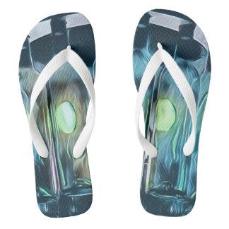 Künstlerische blaue flip flops