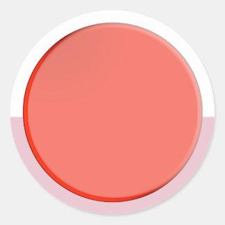 Künstlerische Farbschatten: Organisierende Runder Aufkleber
