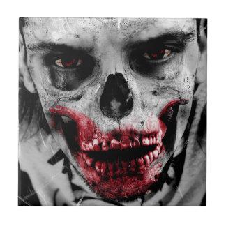 Künstlerische Illustration des Zombieporträts Kleine Quadratische Fliese