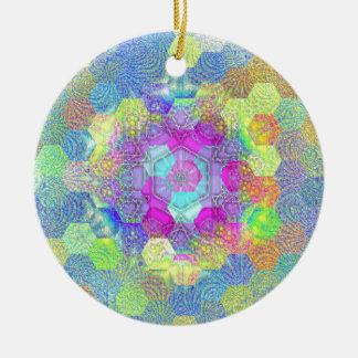 Künstlerische Kreise und Wirbels-Funky abstraktes Rundes Keramik Ornament