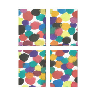 Künstlerische Punkt-abstrakter Leinwanddruck