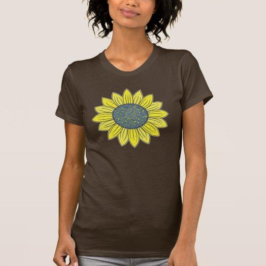Künstlerische Sonnenblume T-Shirt