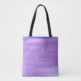 Künstlerische Taschentasche: lila mit Schwarzem Tasche