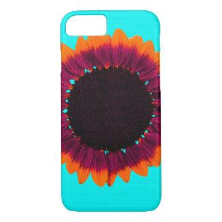 Künstlerische und abstrakte Herbst-Sonnenblume iPhone 8/7 Hülle
