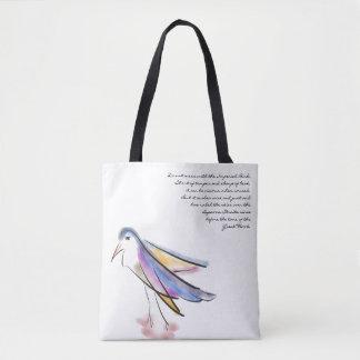 Künstlerische Vogel-Tasche Tasche