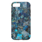 Künstlerischer abstrakter Labradorit-Mosaik iPhone iPhone 8/7 Hülle
