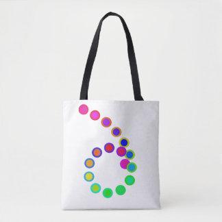 Künstlerischer Regenbogen färbt Strand-Taschen Tasche