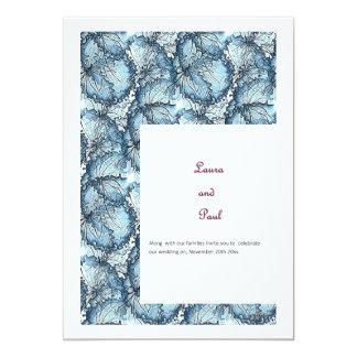 Künstlerisches Hochzeits-Briefpapier Karte