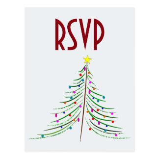Künstlerisches verziertes Weihnachtsbaum UAWG Postkarte