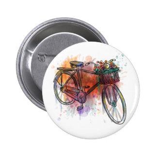 Künstlerisches Vintages Fahrrad Runder Button 5,1 Cm