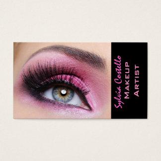 Künstlerkarte eyemakeup Peitschen der rosa Visitenkarte