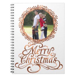 Kupfer-Blick Skript froher Weihnachten u. Notizblock