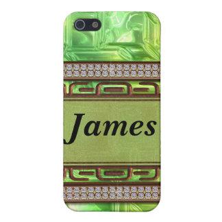 Kupfer u. Grün-gelbes Glasmosaik iPhone 5 Schutzhülle