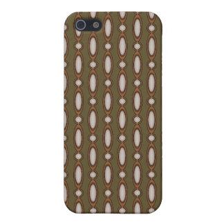 Kupfer u. kakifarbiger wulstiger Vorhang iPhone 5 Case