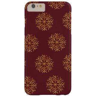 Kupfer-und Burgunder-Schneeflocke-Telefon-Kasten Barely There iPhone 6 Plus Hülle