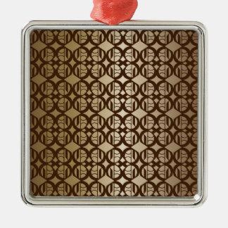 Kupfer verbundener Hintergrund Quadratisches Silberfarbenes Ornament