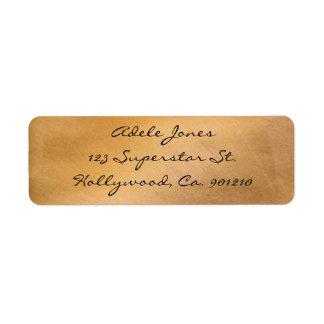Kupferne metallische Adressen-Etiketten