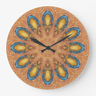 Kupferne Patina-Mandala 0060-1 Große Wanduhr
