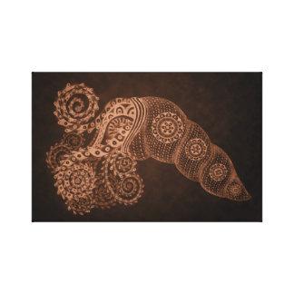 kupferner abstrakter Tintenfisch 11 x 17 Leinwanddruck